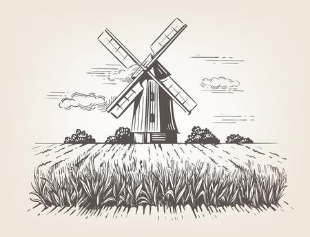 Handgezeichnete Doodle Illustration eines Landes