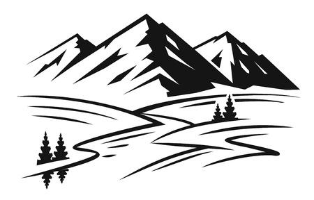산과 풍경 벡터