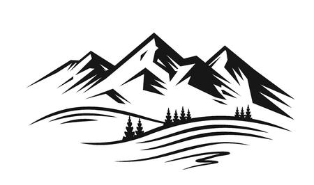 Vector de montaña y paisaje