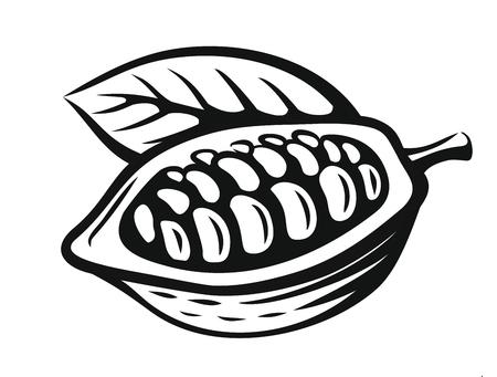 벡터 검은 카카오 콩