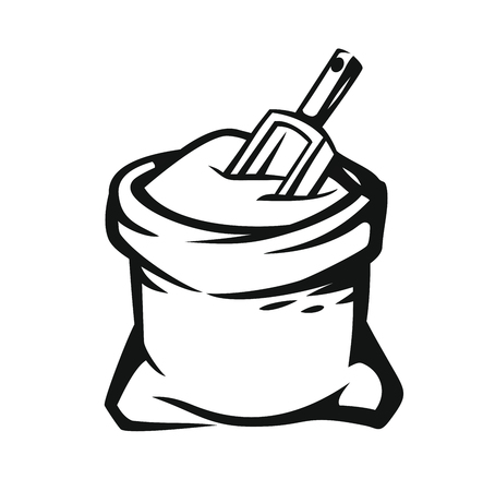 Sack with whole flour Illustration