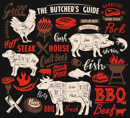 Poster meat steak Illustration