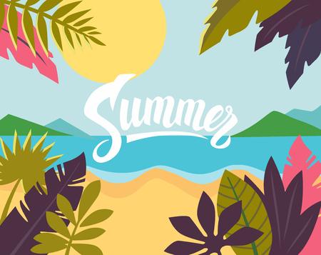 Summertime on the beach. Vettoriali