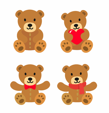 Teddy bear stuff toys icon.