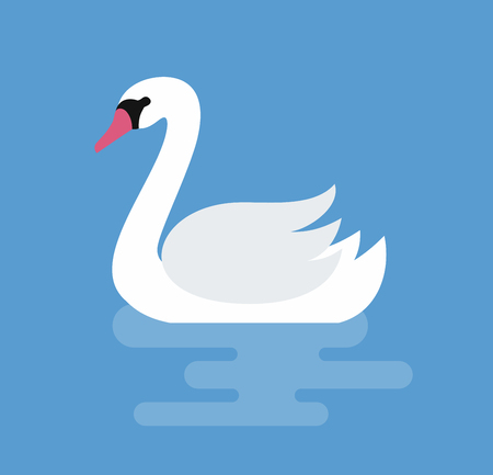 White swan on water icon.