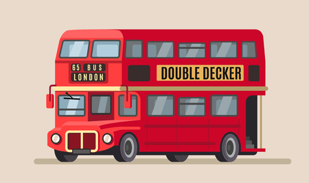 double decker city bus Vector illustration.