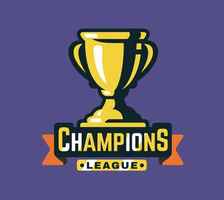 Winning Trophy Or Championship Trophy Flat Icon For Apps And