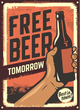 Male hand holding beer bottle.