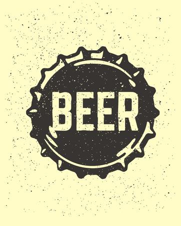 craft beer texte emblème sur la corde à cheval