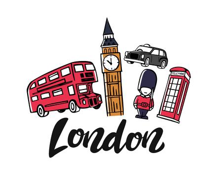 London england toruism travel Illustration