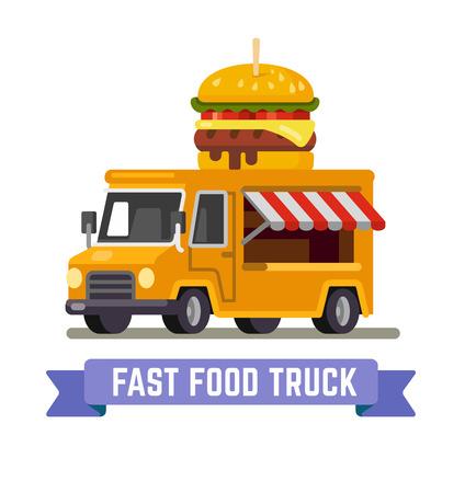 Fast-Food-Lieferwagen. Standard-Bild - 97150492