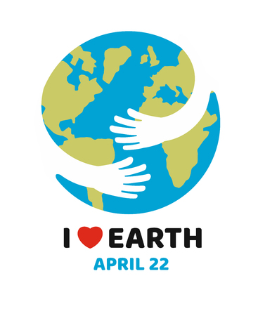 Earth day April, hand holding Earth.