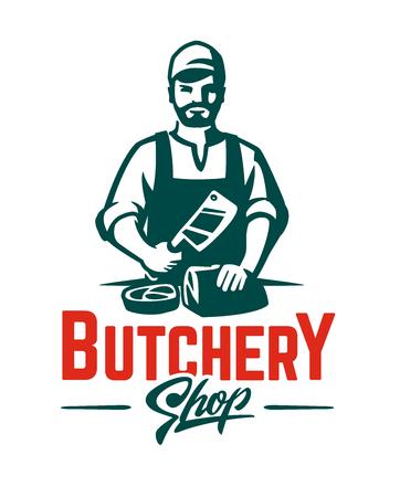 Vector Butcher emblem with butcher.