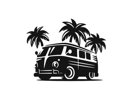 Vektor schwarz Surfen Abzeichen . Strand Surfer Emblem