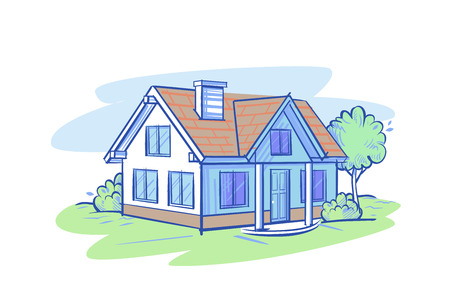 village house vector Stockfoto - 100627379