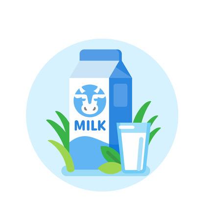 Carton de lait de vache