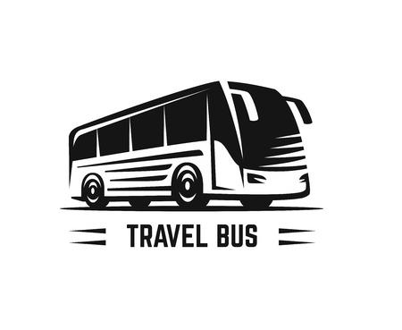 Bus de signe noir de vecteur