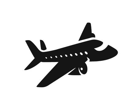 icono de avión de reacción Ilustración de vector