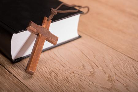 Holy Bible book cross