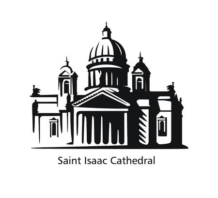 Saint Petersburg Isaacs Cathedral art illustration