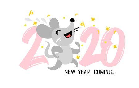 2020 happy new year label design Zdjęcie Seryjne - 132054637