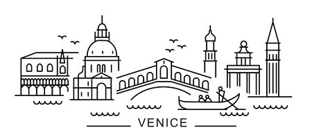 City of Venice in outline style on white