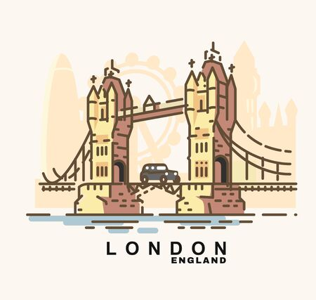City of London in outline style Illustration