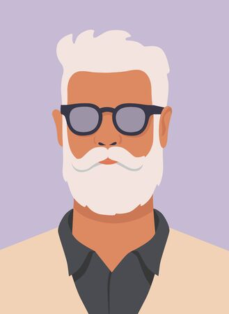 hipster man with white beard