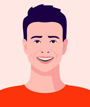 young man in a t-shirt smiling avatar