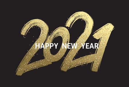 2021 New Year cart. 2021 New Year. Ilustração