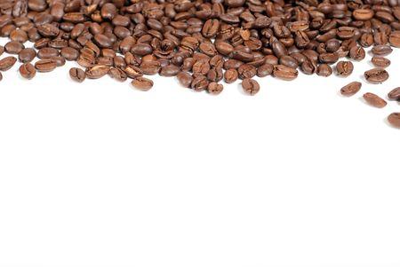 bean plant: granos de caf� con copyspace  Foto de archivo