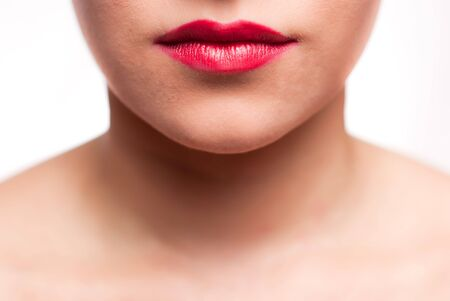 mouth with red lips Stock Photo - 7671568