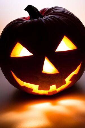 glowing Halloween Pumpkin photo