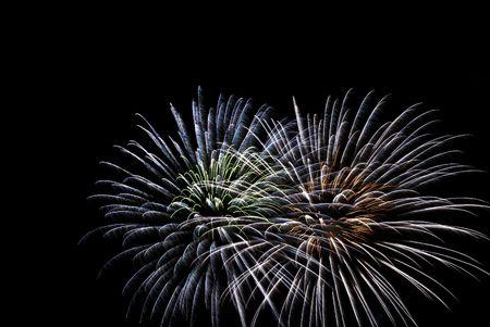 Fireworks light up the dark sky Stock Photo - 8063638