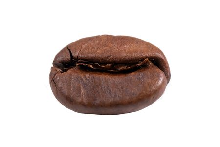 lonely coffee bean isolated photo