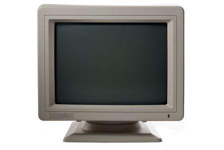 computer monitor: computer monitor isolated Stock Photo