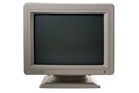 old technology: monitor di computer isolato