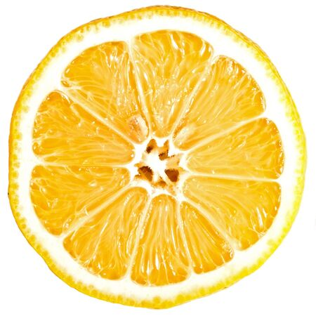 lemon cross section isolated on white