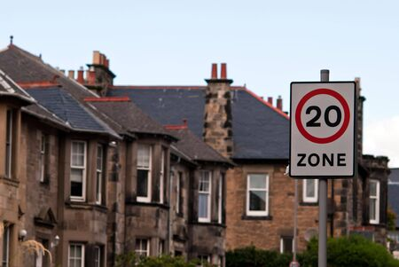 20 miles zone in the residential area photo