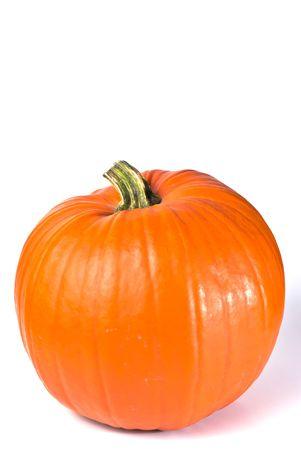 orange pumpkin isolated on white copy space Stock Photo