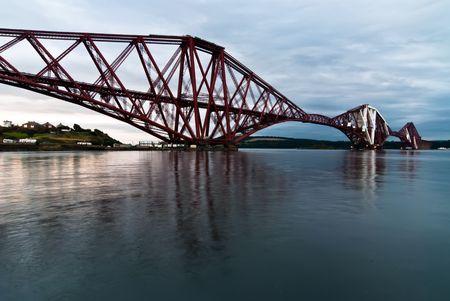 forth: Forth Railway Bridge over the sea in Scotland