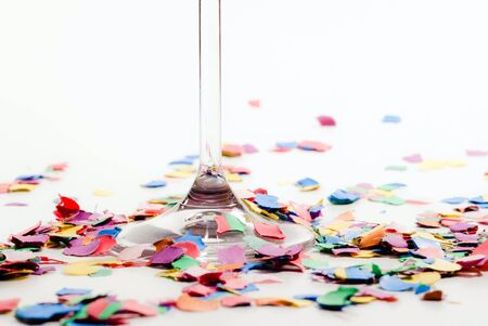 sparkling glass stick with confetti on white Stock Photo - 8153021