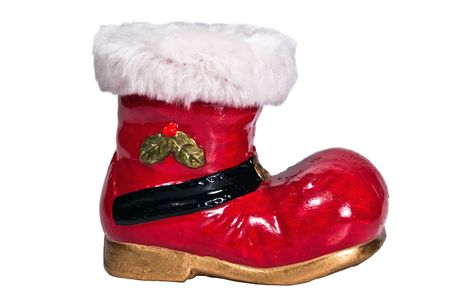optional: red Christmas boots optional on white background