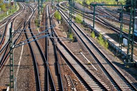 many tracks in different directions, interlocking Stock Photo - 8366297