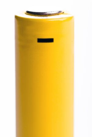 a yellow battery-standing negative Stock Photo - 9052375