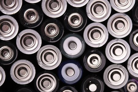 many batteries are shown from above Stock Photo - 9052406