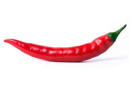 capsaicin: a red pepper optional on white background