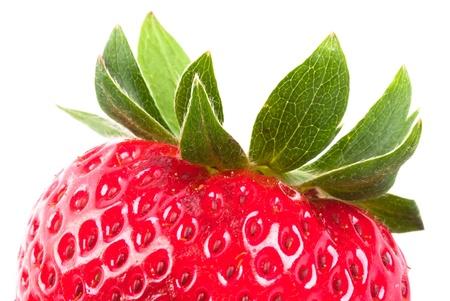 Coupe de gros plan fraise rouge Banque d'images