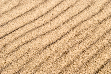 yellow sand with wave drawing as a texture or background photo