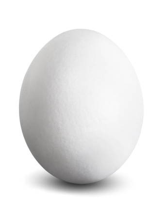 colourfully: a white egg isolated before white background
